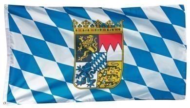 Bayernfahne mit Wappen