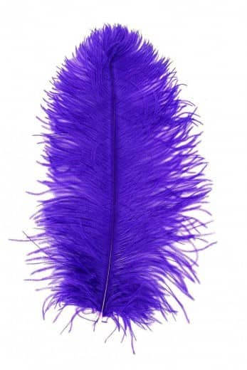 Straußenfeder Karneval lila