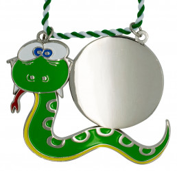 Karnevalsorden - grüne Schlange