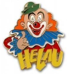 """Karnevalspin Clown mit """"Helau"""""""
