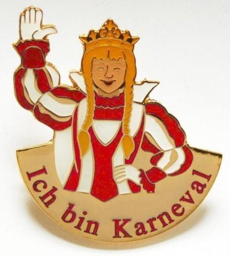 """""""Ich bin Karneval"""" - Prinzessin rot-weiß"""