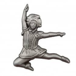 Tanzmariechen Sprung Pin 3D gegossen