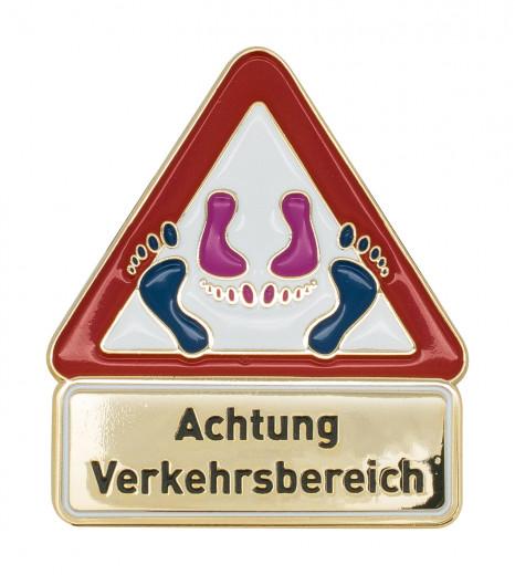 Achtung Verkehrsbereich - Pin