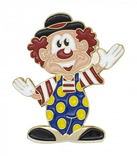 winkender Clown mit Hut