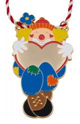 Karnevalsorden - Clown mit Herz