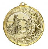 """Medaille """"Singos"""" Ø 40mm mit Wunschemblem und Band gold"""