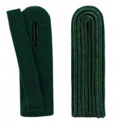 4-streifige Schulterstücke in grün