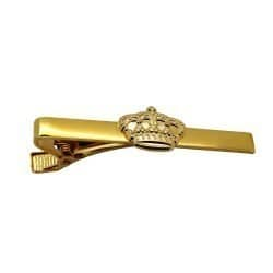 Krawattenklammer vergoldet mit Krone