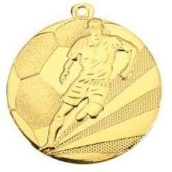 "Medaille ""Fußball"" Ø 50mm gold mit Band"