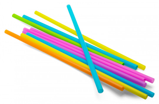 135 Stk. Trinkhalme/Shake-Halme farbig