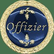 Auflage Offizier blau