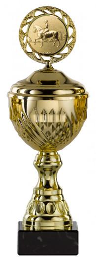 Pokale 6er Serie S456 gold mit Deckel 25 cm