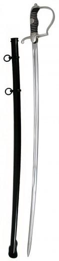 Reitersäbel schwarze Scheide mit 2 Ringen