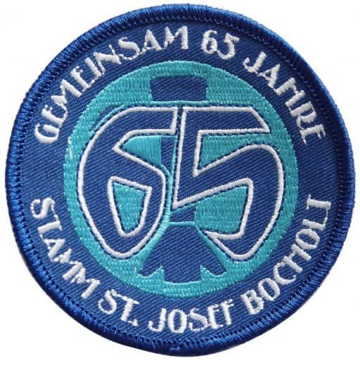 """Stickabzeichen - Aufnäher """"65"""" individuell gewebt"""