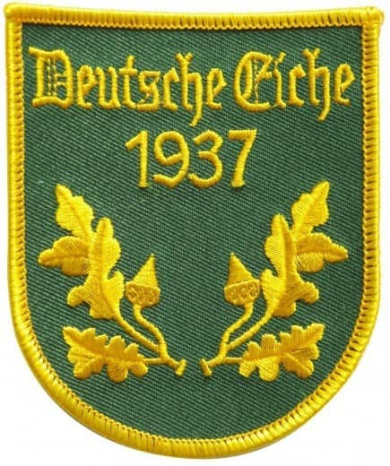 """Stickabzeichen - Aufnäher individuell """"Deutsche Eiche"""""""