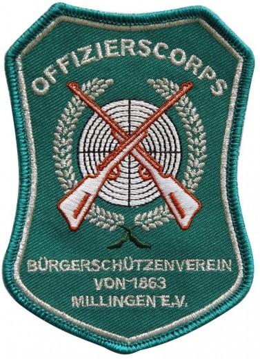 """Stickabzeichen - Aufnäher """"Offizierscorps"""""""