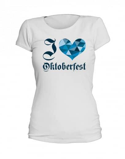 "T-Shirt ""I Love Oktoberfest"" - Damen"