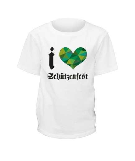 """T-Shirt """"I Love Schützenfest"""" - Kinder"""