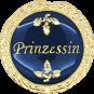 Auflage mit Prinzessinschriftzug blau