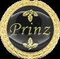 Auflage mit Prinzschriftzug schwarz