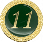 Auflage mit Schriftzug 11 Jahre grün