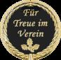 Auflage mit Schriftzug Für Treue im Verein schwarz