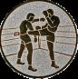Emblem 25 mm 2 Kickboxer, silber