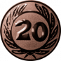 Emblem 25 mm Ehrenkranz mit 20, bronze