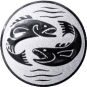 Emblem 25mm 2 Fische, silber
