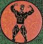 Emblem 25mm Bodybuilding mänl., bronze