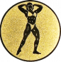 Emblem 25mm Bodybuilding weibl., gold