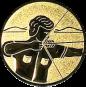 Emblem 25mm Bogenschütze rechts, gold schießen