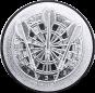 Emblem 25mm Dartscheibe 3D, silber