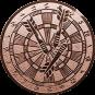 Emblem 25mm Dartscheibe, bronze