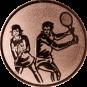 Emblem 25mm Doppel Mix, bronze