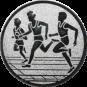 Emblem 25mm Drei Laeufer, silber