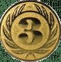Emblem 50 mm Ehrenkranz mit 3, gold