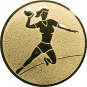 Emblem 25mm Handball Werferin, gold