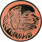 Emblem 25mm Hundekopf, bronze