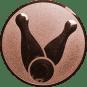 Emblem 25mm Kegel 1, bronze