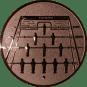 Emblem 25mm  Kickertisch, bronze