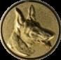Emblem 25mm Schäferhund 3D, gold