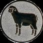 Emblem 25mm Schaf, silber