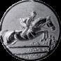 Emblem 25mm Springreiter 3D, silber