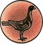 Emblem 25mm Taube rechts, bronze