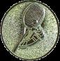 Emblem 25mm Tennisschläger mit Schuh, gold 3D