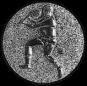 Emblem 25mm Tennisspieler, siber 3D