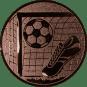 Emblem 25mm Tor, Fußball, Schuh, bronze