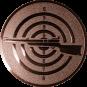 Emblem 25mm Zielsch. mit Gewehr links, bronze schießen