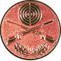 Emblem 25mm Zielsch. mit Gewehren u. Eichenlaub, bronze schießen